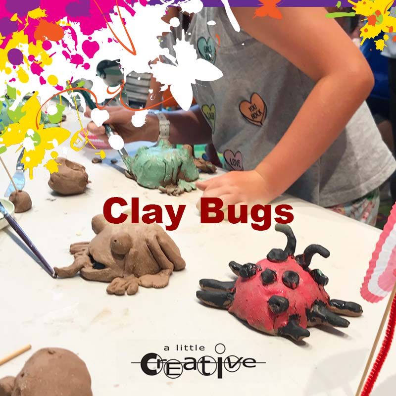Sunshine Coast holiday art clay bugs