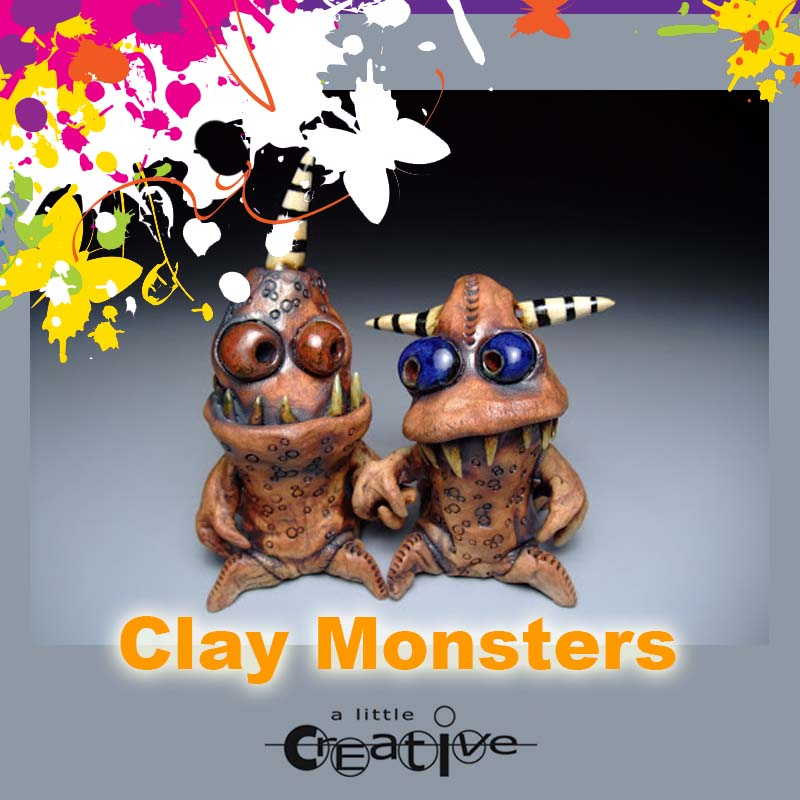 Sunshine Coast art class clay monsters